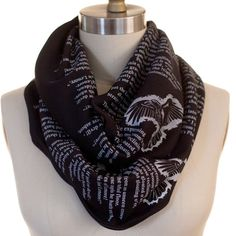 The Raven by Edgar Allan Poe Book Scarf - Literary Scarf | Storiarts