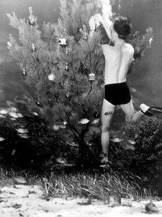 Underwater Christmas Tree.  Florida. 1948.