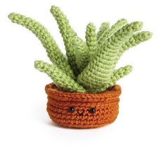 Crochet a Cute Aloe Vera Plant Amigurumi - Great Housewarming Gift!