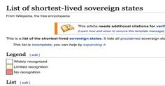 Cachondeo por cómo recoge la Wikipedia la declaración de Puigdemont