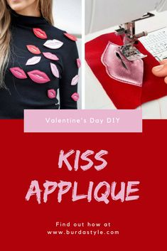 It's easy to see how much we love this trend. Lip appliqués embellish pullovers, tops, and more! Whether on the catwalks in the all-over look or striking on a T-shirt – the creativity is no limit to this trend. We show you how you can make the red lip applications yourself, just read on…