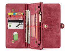 CaseMe iPhone X Zipper Wallet Detachable 2 in 1 Folio Case