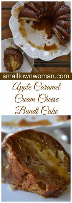 This Apple Caramel Cream Cheese Bundt Cake takes apple cakes to perfection by slipping in a layer of cheesecake and a drizzle of sweet caramel sauce.