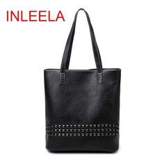 INLEELA 2016 New Arrival Autumn Bag Large Size Women Shoulder Bag Daily Vintage Women Messenger Bag Causal Rivet Bag -  http://mixre.com/inleela-2016-new-arrival-autumn-bag-large-size-women-shoulder-bag-daily-vintage-women-messenger-bag-causal-rivet-bag/  #Handbags