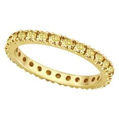 Yellow Sapphire Eternity Ring Band 14k Yellow Gold (0.75ct)-Allurez.com