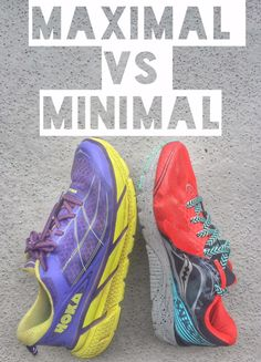 Minimal vs maximal running shoes - understanding the difference and finding the right shoe for you