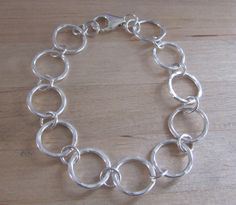 Gold Jewellery Design, Silver Jewelry, Circle Necklace, Argent Sterling, Hammered Silver, Sterling Silver Bracelets, Chains, Fashion Jewelry, Bangles