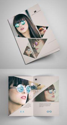 triangle fractures brochure design