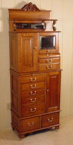 American Cabinet Co. Oak Dental Cabinet #54