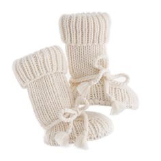 """these may be in the """"need"""" catagory for baby. wouldn't want his toes getting chilly during his first winter!   TANE™ baby booties"""