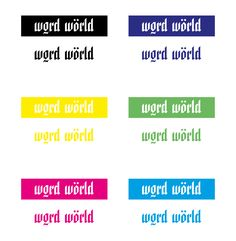 Word World Brand - Colour Concept