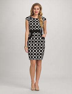 Circle Print Pocket Dress