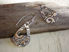 ARTisan Made Boho Earrings  PMC  Sterling Silver by ARTandElements