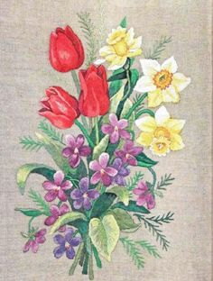 Gallery.ru / Фото #4 - Цветочное настроение иглой - Fyyfvbwrtdbx1957