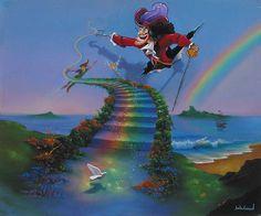 Jim Warren Fine Disney Art, Forever Neverland, New Original, Oil on Canvas