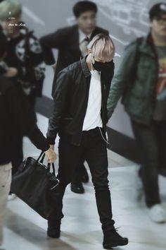 151112: EXO Byun Baekhyun; Gimpo Airport to Kansai Airport #exok #fashion #style