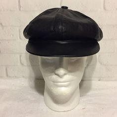 Vintage-Lavorazione-Artigiana-Vera-Pelle-Hat-Cap-Italian-Leather-58