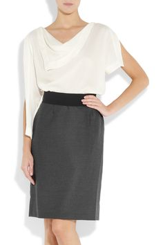 Silk crepe de chine and stretch-wool dress $2,000 Vionnet Net-a-Porter