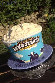 Ben and Jerry cake
