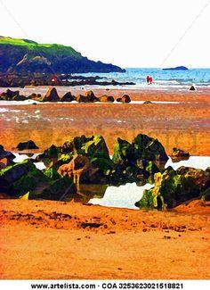 Playa de Bañugues, Asturias