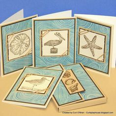 Seaside Note Card Set by indycurt - Cards and Paper Crafts at Splitcoaststampers