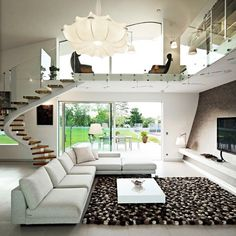 Croatian interior - The staircase is amazing and the use of glass balustrading keeps it nice and light. #design