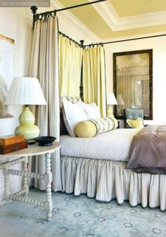 great silk oushak, extra gathering on bed skirt, by Liz Williams,Liz Williams Interiors :) From the 2010 Atlanta Homes & Lifestyles Christmas Showhouse