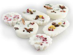 nature-decorated tarts