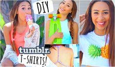Easy and Quick DIY T Shirts Inspired by Tumblr Photos! ☼
