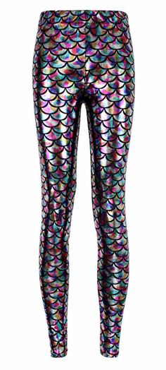 Rainbow Mermaid Leggings for lounging or going out and about