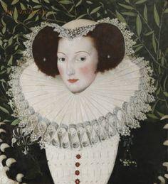 Ann Vavasour (1560-1650) attributed to Robert Peake the elder (c.1551 – 1619) date circa 1580-90