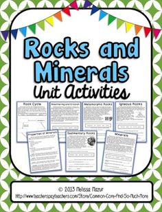 This unit on rocks and minerals has great hands-on activities (reading comprehension questions, activities, investigations) that enhance the students knowledge of the topic. BP