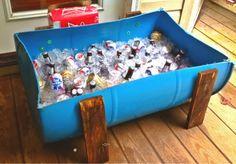 Redneck white trash bash birthday party beer cooler