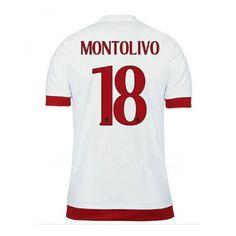 Maglie calcio poco prezzo AC Milan 15-16 Montolivo 18 Maglia Trasferta