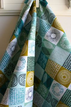 Organic Spring Scrapbook in Robin's Egg from by SewFineFabric, $3.15