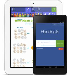 Handouts — App for the paperless classroom. I need to look into this!