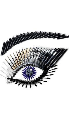 Artistic eye created with Dior mascara!