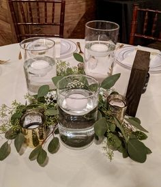 Greenery decor for in between vases/candles.
