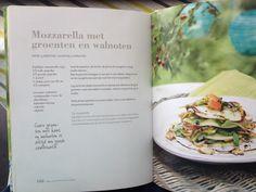 Mozzarella met groenten en walnoten