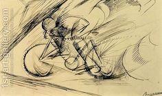 Umberto Boccioni:Dynamism of a Cyclist, 1913