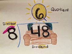 Your Thrifty Co-Teacher: Dividend? Divisor? Quotient? A quick activity to help your students remember which is which...divisor, dividend, quotient...