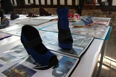 Shoes designed by Leicester College students using Delcam CRISPIN ShoeMaker. College Fashion, Leicester, College Students, Designer Shoes, Fashion Show, Footwear, Shoe, Shoes, Student