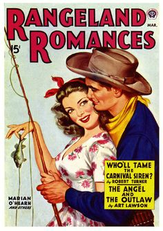 The Angel and the Outlaw. #vintage #1940s #cowboys #fishing #magazines