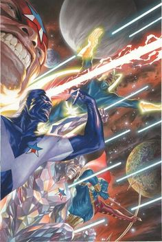 The original Guardians of the Galaxy by ©Alex Ross