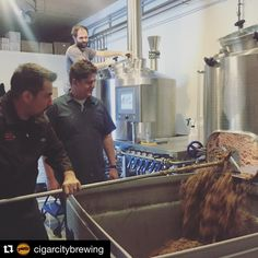 """#Repost @cigarcitybrewing with @repostapp. ・・・ Joey and Justin joined us in brewing a second collaboration with @hillfarmstead. We love collabs that force…"""