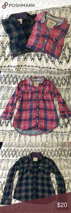 2 size small abercrombie flannels Excellent condition size small flannels from abercrombie. Abercrombie & Fitch Tops Button Down Shirts