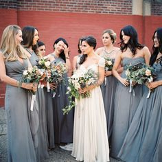 Dusk Blue Bridesmaids Dresses for an Autumn Wedding | Trent Bailey | Snippet & Ink