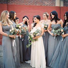 Dusk Blue Bridesmaids Dresses for an Autumn Wedding | Trent Bailey | Snippet & Ink