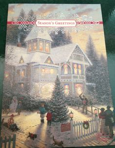 }{ Thomas Kinkade Christmas by Mailbox Happiness-Angee at Post crossing Christmas Scenes, Noel Christmas, Victorian Christmas, Vintage Christmas, Thomas Kinkade Art, Thomas Kinkade Christmas, Illustration Noel, Illustrations, Winter Pictures