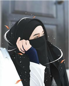 Cartoon Girl Images, Cartoon Girl Drawing, Girl Cartoon, Cute Muslim Couples, Muslim Girls, Islamic Girl Pic, Tattoos Anime, Cat Anime, Poses Anime